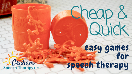 Cheap and Quick: Easy Games for Speech Therapy